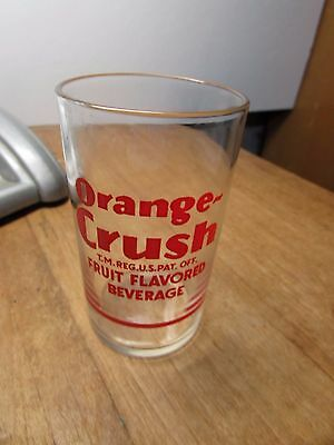 Vintage Orange Crush Soda Fountain Measuring Glass
