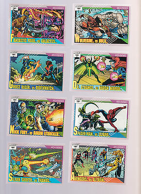 Lot of 8 Marvel 1991 trading cards, Wolverine Dr. Strange Spider-Man Ghost Rider