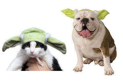 Pet Yoda Cat or Dog Ears - Costume Accessory The Force is Strong in this One fnt