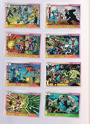 Lot of 8 Marvel trading cards Published 1991 Captain Hulk X-Men