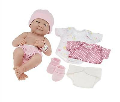 JC Toys La Newborn Nursery 8 Piece Layette Baby Doll Gift Set Berenguer #18543A