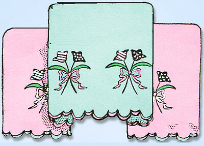1950s Vintage Aunt Marthas Embroidery Transfer 9479 Charming Pillowcase Motifs