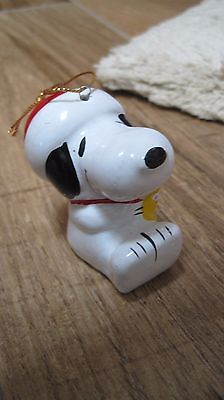 1986 Peanuts Snoopy Union Wadding ceramic Christmas ornament Snoopy Woodstock