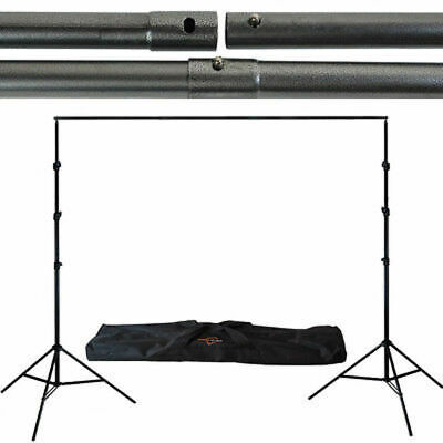 9x10 Adjustable Background Support Stand Photo Backdrop Crossbar Kit Photography