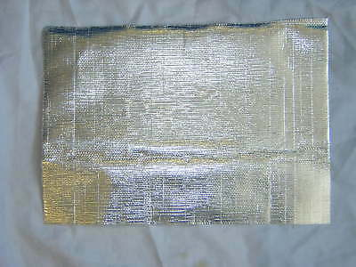 """Exhaust Heat Shield 1mm Thick Approx. Self Adhesive  12""""x7"""" Size. New"""