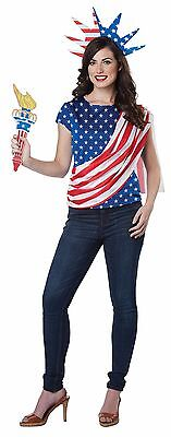 ADULT AMERICAN USA FLAG 4TH JULY INDEPENDENCE DAY PATRIOTIC COSTUME GC1972