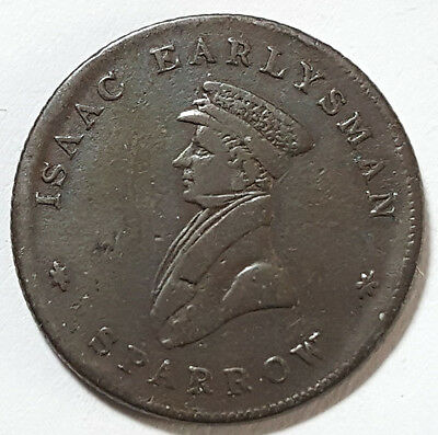 England So-Called Farthing Isaac Earlysman FINE Hot Air Balloon (Inv 1073)