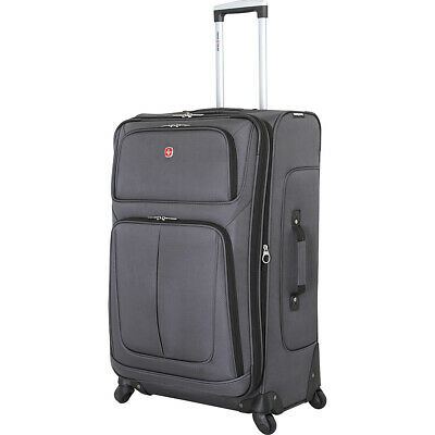 "SwissGear Travel Gear 29"" Spinner Luggage 6 Colors Softside Checked NEW"