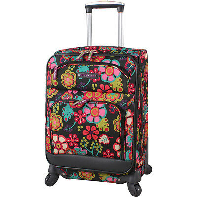 """Lily Bloom 20"""" Exp Spinner Luggage 2 Colors Softside Carry-On NEW"""
