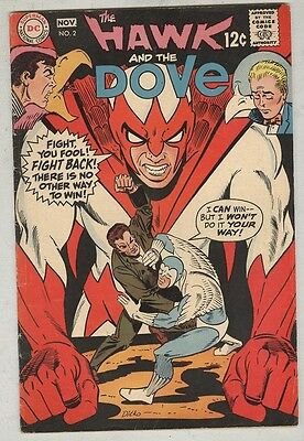Hawk and the Dove #2 October 1968 VG Ditko