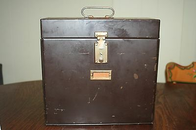 Vintage Metal File Box My Strong by New Process Co. Warren, PA