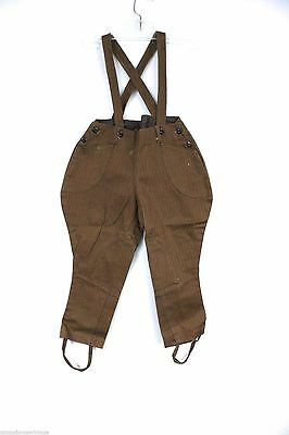 Antique Boys NOS Jodphurs Pants Herringbone Denim 4-5 Overalls Never Worn Brown