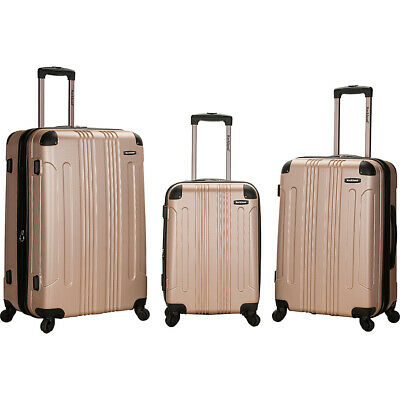 Rockland Luggage London 3-Piece Hardside Spinner Luggage Set NEW