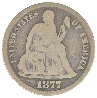 Historic 1877-S Seated Liberty Dime *806