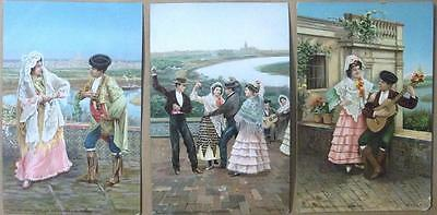 1905 SEVILLA SPAIN Dancers And Musicians Lot of 6 Post Cards #207