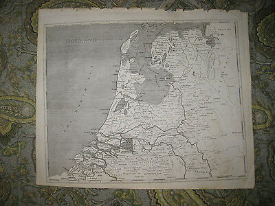 Rare Antique 1805 Holland Copperplate Arrowsmith And Lewis Map Amsterdam Fine Nr