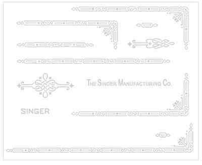 Singer Featherweight 221 Sewing Machine Early Style Restoration Decals Silver