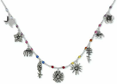 Texas Wildflower Necklace Jewelry Sterling Silver Handmade Flower Necklace TWF1-