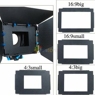 Fotga DP3000 4:3 Small Matte Box Follow Focus Sunshade Boards Sheet 106.6x80mm