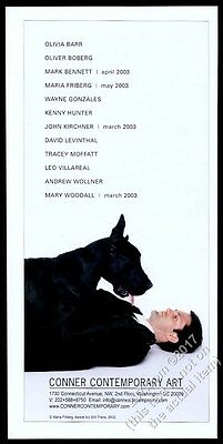 2003 great dane big black dog photo by Maria Friberg DC gallery show print ad
