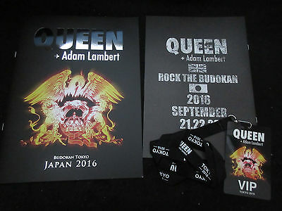 Queen + Adam Lambert 2016 Japan Tour Book with Plastic Pass for VIP Brian May