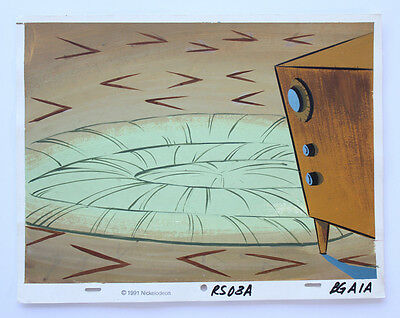 Ren & Stimpy Space Madness Production Background Cel Cell And Animation Art
