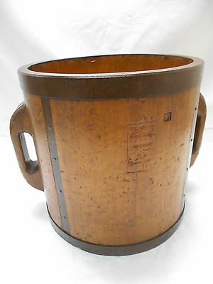 Collectable Vintage Japanese Rice Bucket Sugi Wood #21