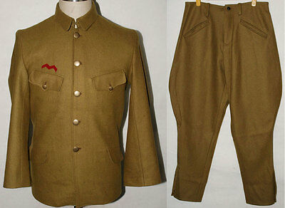 Wwii Japanese Army Officer Wool Field Uniform Set Tunic Breeches L -32382