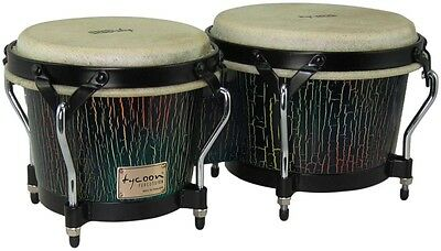 Tycoon Percussion Supremo Select Series Bongos 7 and 8 1/2 in. Dark Iris Finish