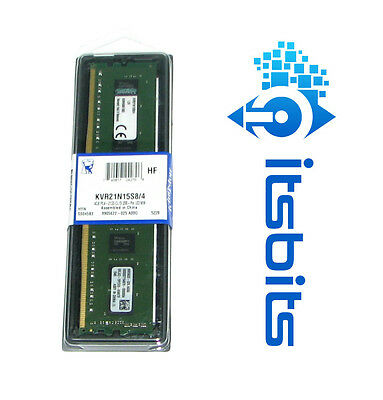 Kingston 4Gb Ddr4 2133 Pc4 Desktop Ram Memory Kvr21N15S8/4 288 Pin Cl15 Sealed