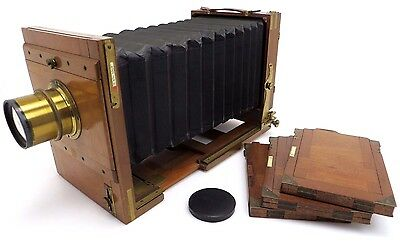 Wooden Plate Camera 13x18 HUGO MEYER Aristostigmat No. 5 4,8/270mm #152566 bq105