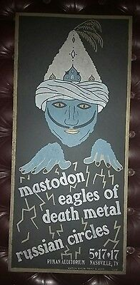 MASTODON & EAGLES OF DEATH METAL Ryman HATCH SHOW PRINT Nashville Poster EODM