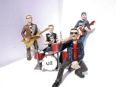 set Figuras grupo U2 Resina Polystone Resin Figures band U2.BONO THE EDGE