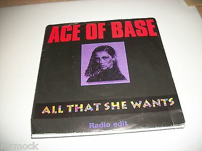"""Ace Of Base- All That She Wants Vinyl 7"""" 45Rpm P/s"""