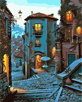 Framed Paint by Number Kit Campobasso Evening DIY Painting DZ7189