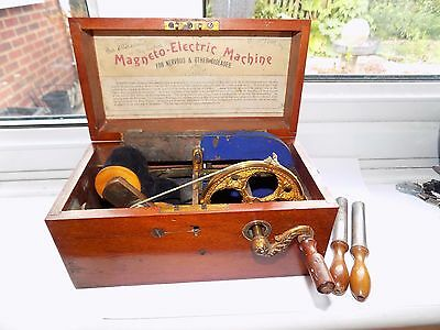 Antique Victorian Magneto-Electric Machine Shock Therapy For Nervous Diseases