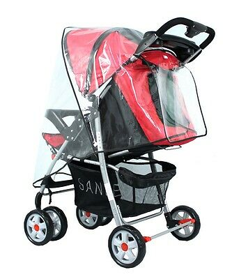 Universal Buggy Pushchair Stroller Pram Transparent Waterproof Rain Cover Clear