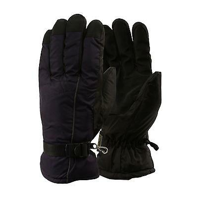 Men's Winter Waterproof Palm Grip Thinsulate 3M Lined Ski Snow Gloves Navy L