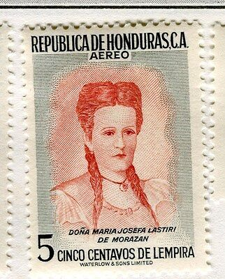 HONDURAS;   1956 early Pictorial AIR issue Mint hinged 5c. value