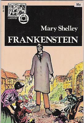 1973 Mary Shelly's Frankenstein Pendulum Press Illustrated Now Age Book