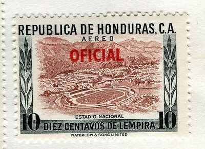 HONDURAS;   1956 early Pictorial OFICIAL AIR issue Mint hinged 10c. value