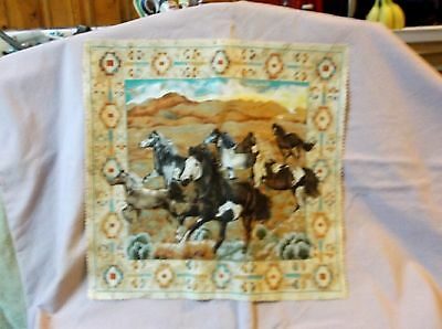Southwestern Horse   Lovers Cotton Pillow Panel Fabric Household Apparel