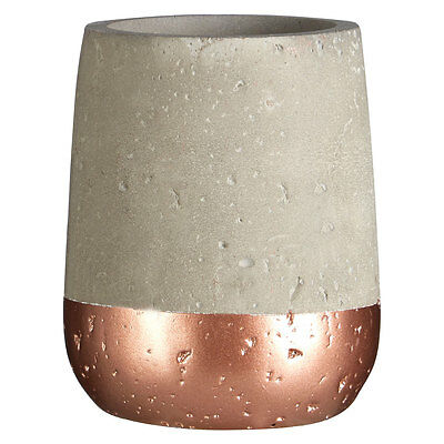 Bathroom Accessory Neptune 250ml Tumbler Concrete and Copper For Home Office