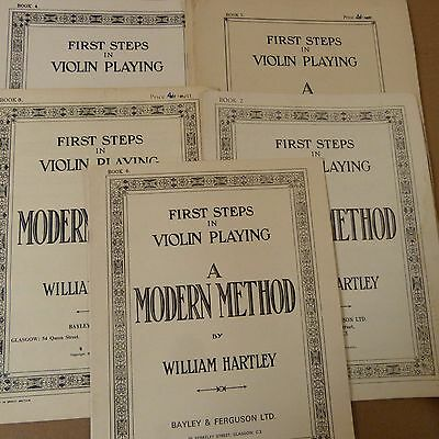 violin FIRST STEPS in VIOLIN PLAYING a modern method, Will. Hartley Bk 2-3-4-5-6