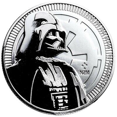Niue - 2 Dollar 2017 - Darth Vader - Star Wars - 1 Oz. Silber Münze Stempelglanz