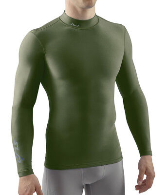 Sub Sports Cold Mock Neck Thermal Compression Mens Top - Green