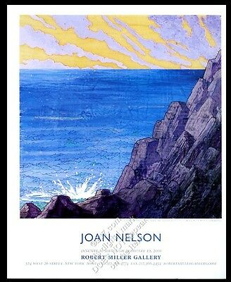 2001 Joan Nelson art NYC gallery vintage print ad