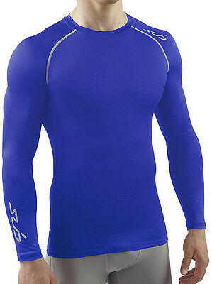 Sub Sports Heat Stay Mens Semi Compression Long Sleeve Top - Blue
