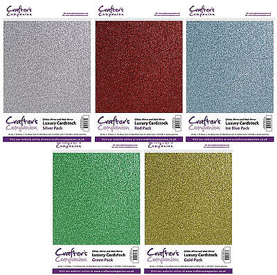Crafters Companion Luxury Glitter A4 Premium Card Stock 30 Sheets Pack