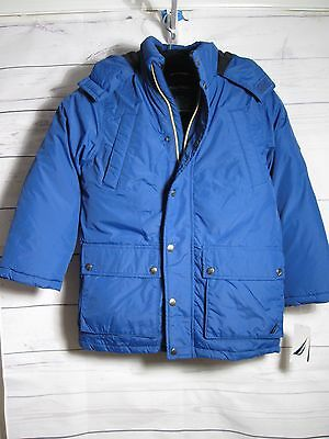 Boys Nautica Winter Hooded Jacket Size 8 New $125 price tag Blue
